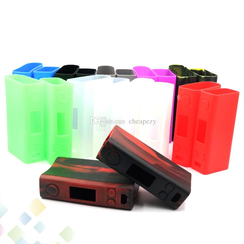 Colorful Evic VTC Dual Proect Case Soft Silicone Rubber Carry Bag Cover for evic VTC dual TC Box Mod Protective Skin DHL Free