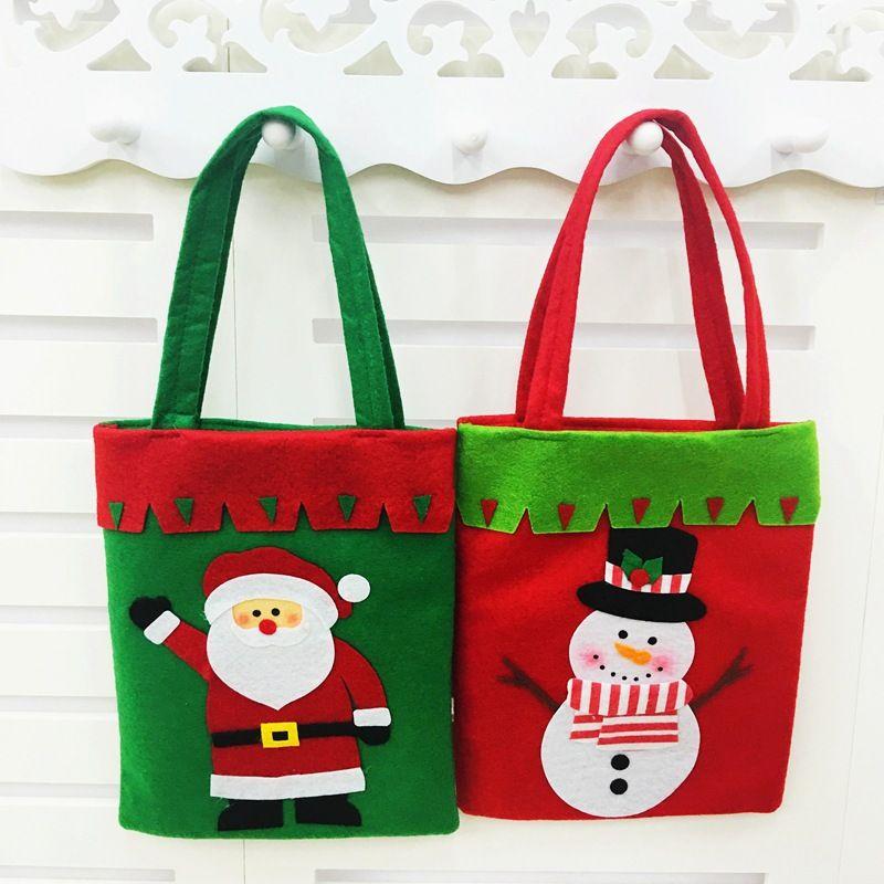 Creative Santa Claus Snowman Christmas Tree Elk Gift Bags Of Handmade Home Decoration For Xmas Designer Decorations Discount