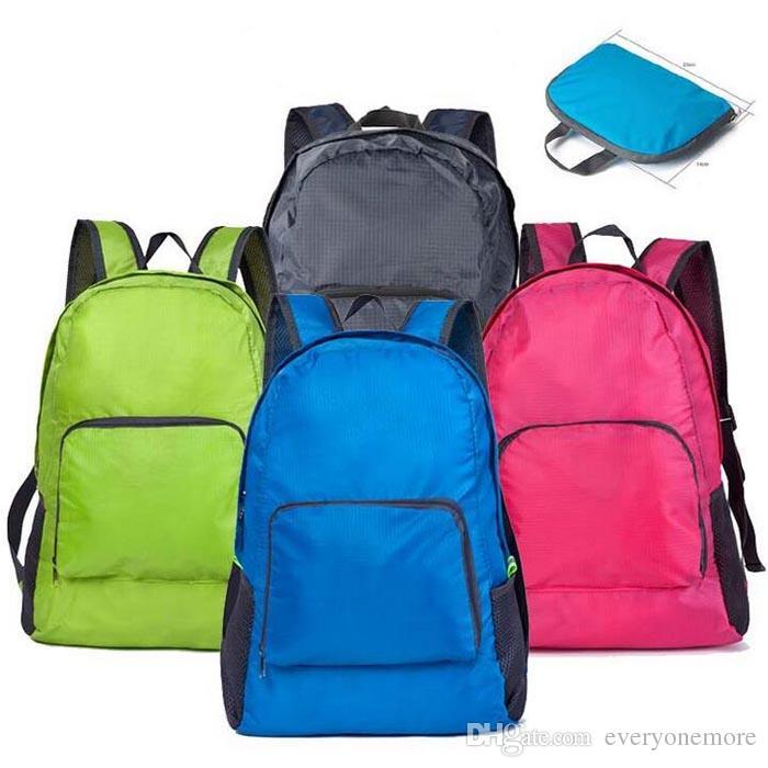 Portable Fashion Travel Backpacks Zipper Soild Nylon Back Pack ...