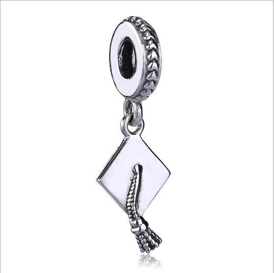 9184275ea ... sweden 2018 authentic 925 sterling silver beads graduation dangle charm  fits european pandora style jewelry bracelets