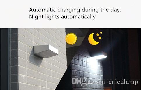 Solar Wall Light with Motion Sensor Highlight Outdoor Solar Wall Lamps LED Chips Garden Lamps
