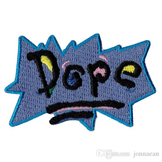 Green`s House POP WOW Embroidered Iron-On Patch KID Cute Applique Clothing Accessory Badge Shirts Cartoon Stitch Patch
