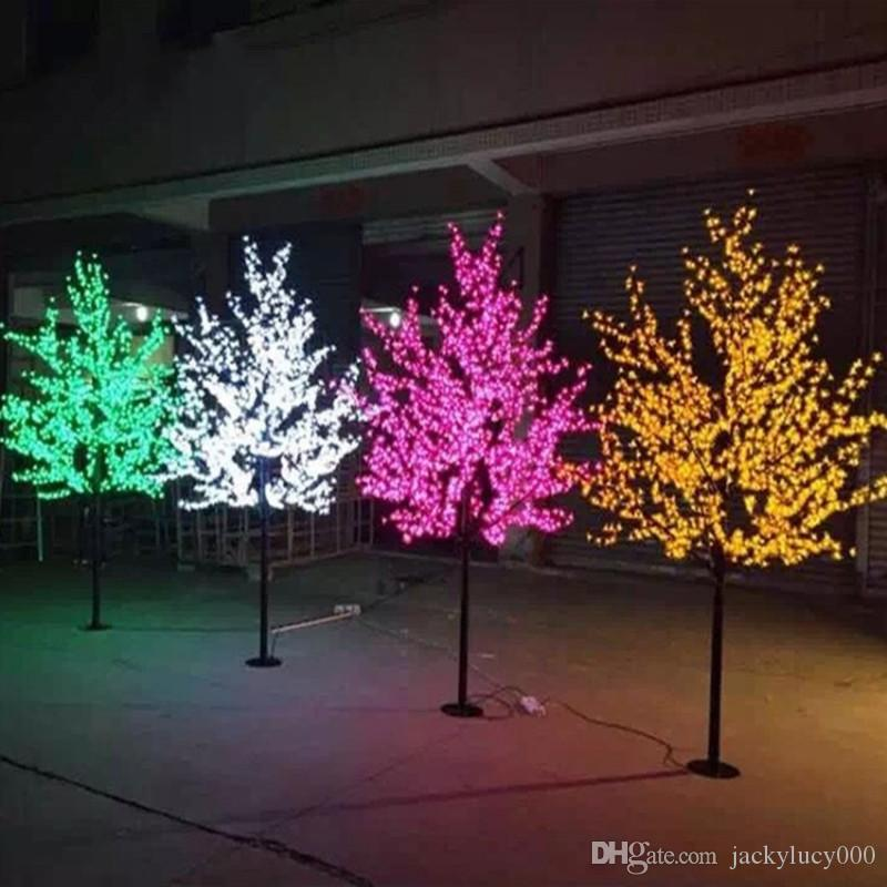 Matrimonio Natale LED Cherry Blossom Trees Light 0.8m 1.5m 2m disponibile Home Outdoor Garden Landscape Decoration Lampada multi colori