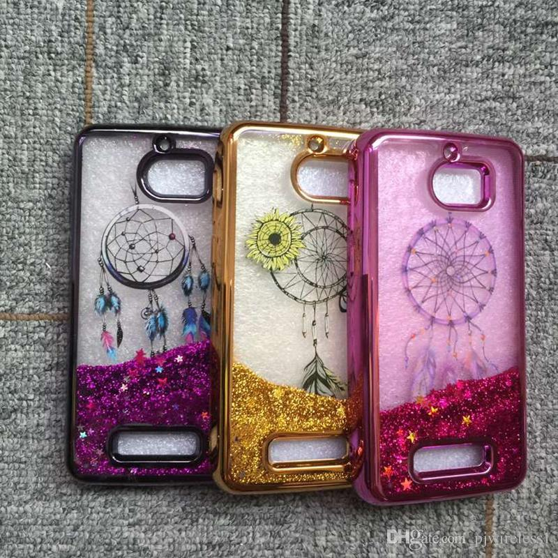 quality design 9975b 84342 For Coolpad Defiant 3632 metropcs Colorful Moving Shining Stars Liquid  Glitter Quicksand Phone Case For Alcatel Idol 5 galaxy note 8 Cover B