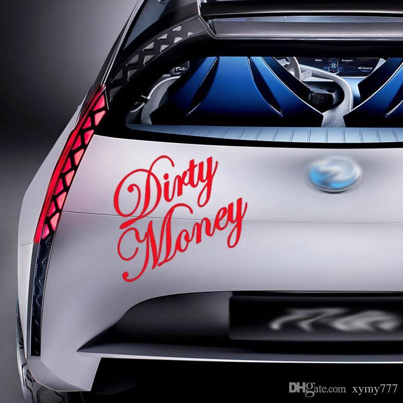 Yeni Stil Araba Şekillendirme İçin Kirli Para Vinil Etiket Kişilik Sticker Ülke Kamyon Araç Aksesuarları Dekor
