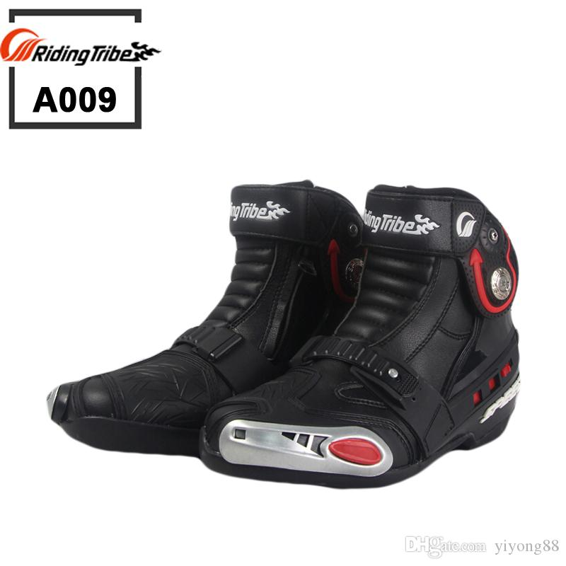 e8a65f044c185f 2019 New Motorcycle Short Boots Riding Tribe SPEED Moto Racing Motocross  Motorbike Boots Black White Red A009 Shoes From Yiyong88