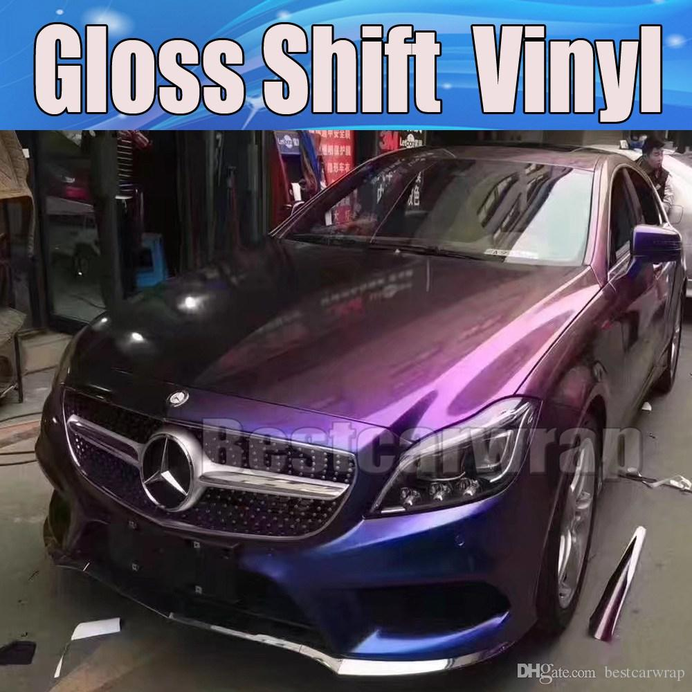 2019 Purple Gloss Shift Chameleon Gloss Car Wrap Vinyl With Air