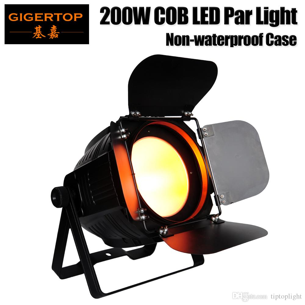 Gigertop TP-P61 200W COB Barndoor Led Par Light Aluminum Housing Barndoor Adjustable 3PIN DMX In/Out Socket Indoor No Waterproof LCD Display