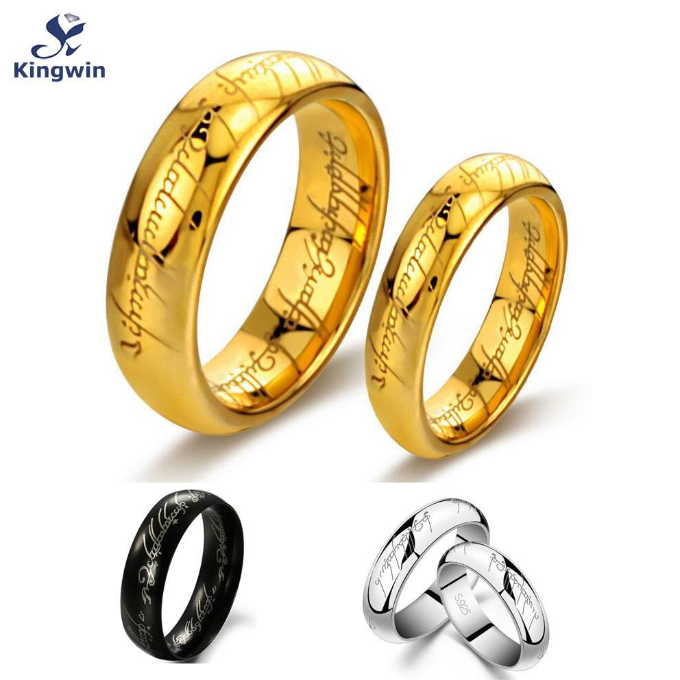 One Ring Of Power Gold Silver Black The Lord Of Rings Women Finger