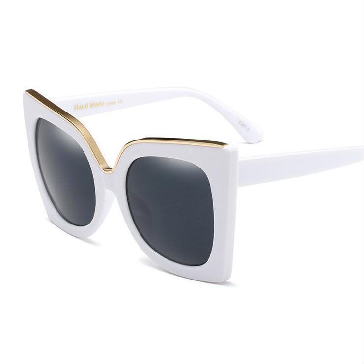 Compre Sqaure Oversize Óculos De Sol Das Mulheres De Luxo Da Marca Óculos  De Sol Big White Preto Quadro Lady Personalidade Moda Goggle Eyewear Cat  Eye De ... ffdd7da8e3
