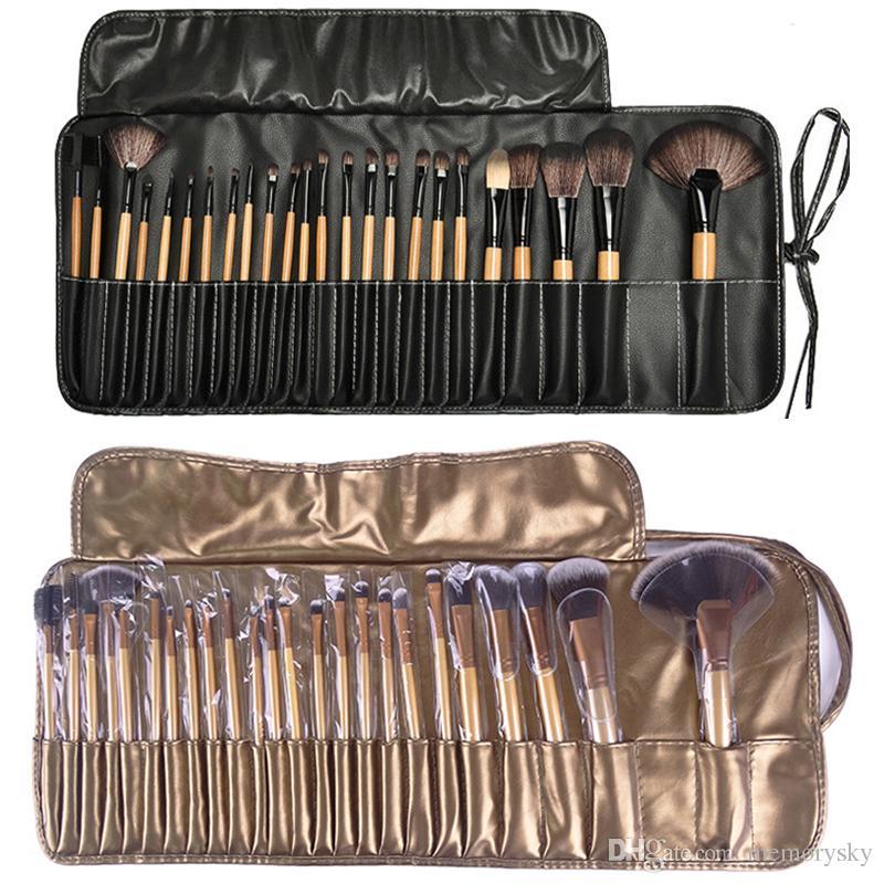 Professional Makeup Brushes Set //Portable Full Cosmetic Make Up Brushes Tool Foundation Eyeshadow Lip Brush With Bag Foundation Brushes Good Makeup Brushes ...