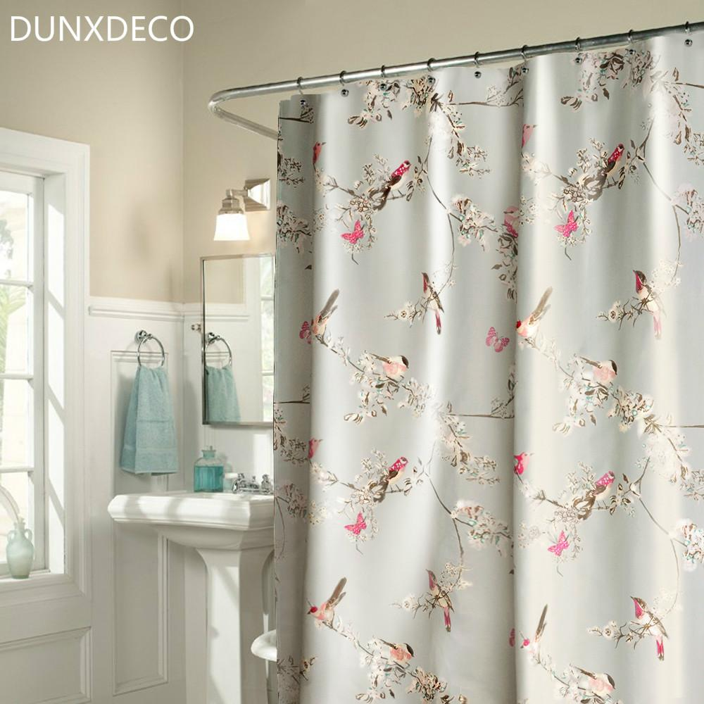Wholesale- DUNXDECO French County Stle Flora Birds Grey Polyester ...