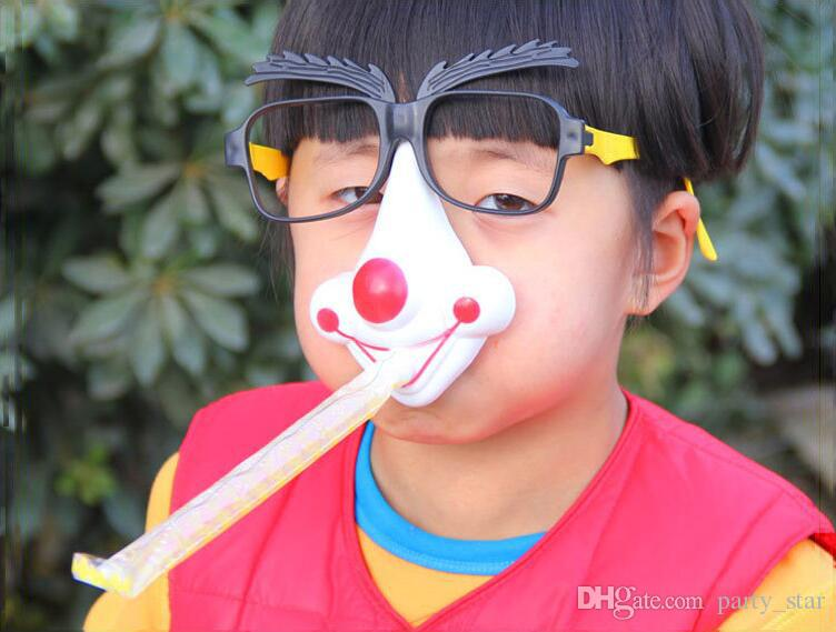Unisex Party Funny Decoration Glasses False Eyebrows False Nose with a Blowout April Fools' Day Joke Glasses