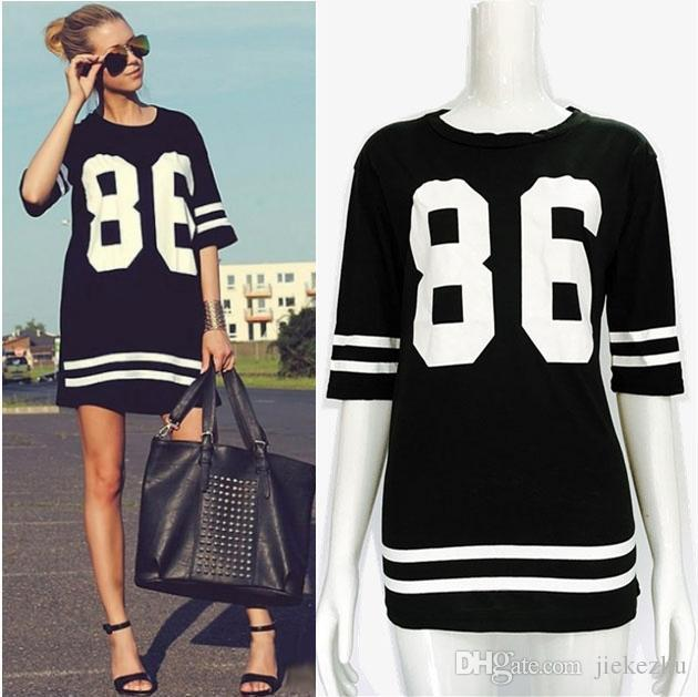 Summer Style T Shirt Women Celebrity Number Prints Tops Casual ...