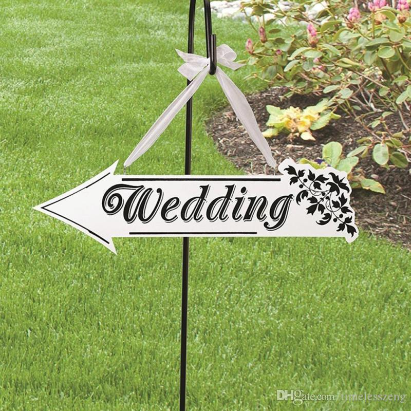 Wedding Party Sign Card Board Creative Wooden WEDDING Indicator Signs Dream Catcher Wedding Decoration Props Supplies