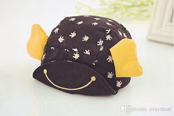 Children's caps babys cotton hats kid's sunhats two colors can choose