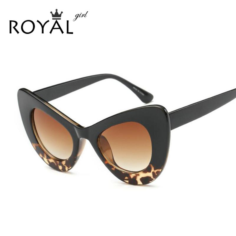 ddd9dc9cf50f6 Wholesale ROYAL GIRL 2016 New Sexy Chunky Cat Eye Sunglasses Oval Acetate  Sun Shades Chic Lady Sunnies Ss204 Sunglasses Case Knockaround Sunglasses  From ...