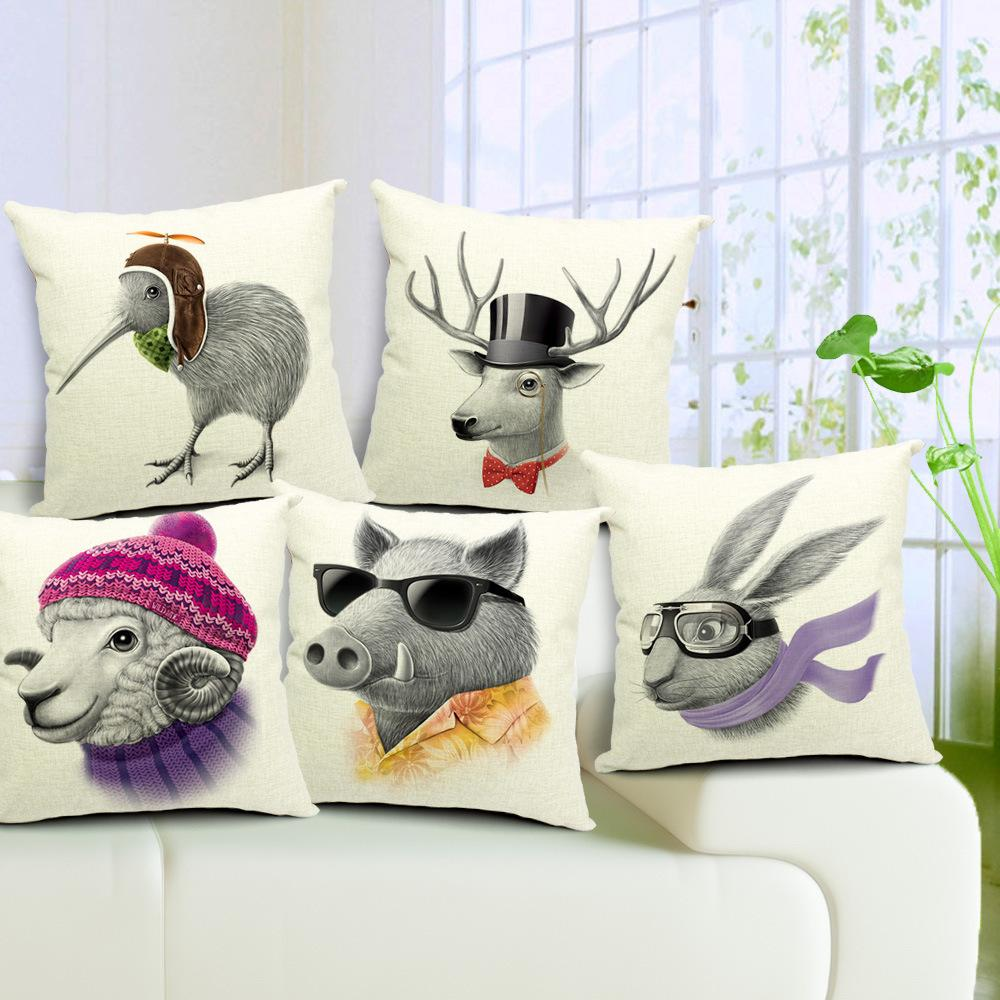 5 Designs Minimalist Nordic Cushion Covers Literature Style Adorable Cartoon Animals Pillow Cover Deer Sheep Pig Bird Rabbit Pillow Cases Cushions For ... & 5 Designs Minimalist Nordic Cushion Covers Literature Style ... pillowsntoast.com