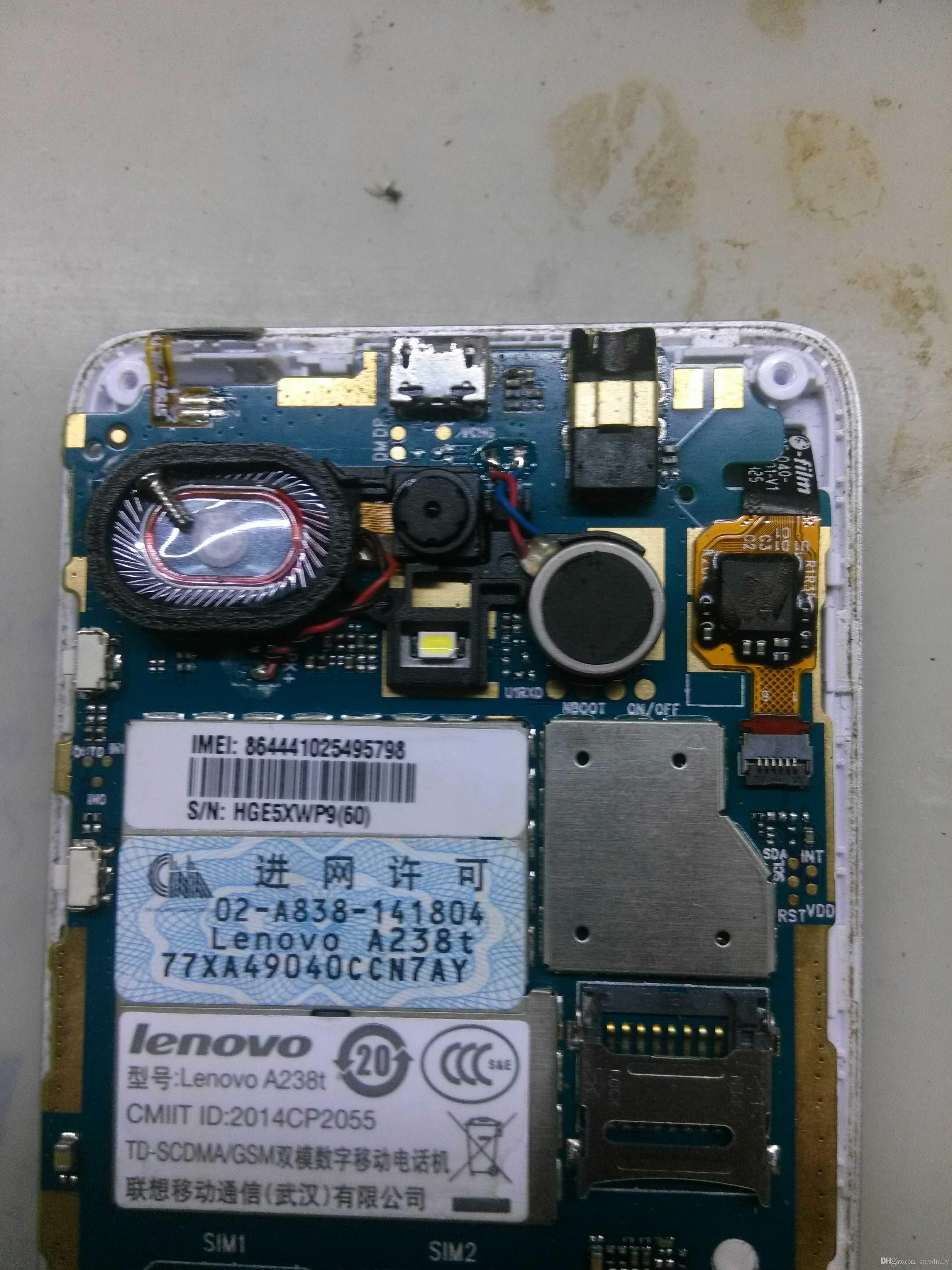 Unlocked used test work well for lenovo A238t motherboard mainboard board card fee chipsets