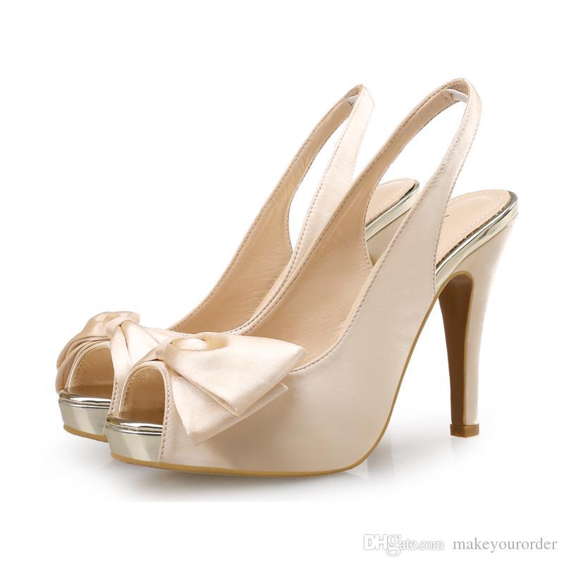 2017FREE VERSCHIFFEN hochhackige Schuhe Frauen Schuhe ein Stilett Bowknot Peep Toe Fisch Mund Braut Hochzeit Partei Brautjungfer shoes236