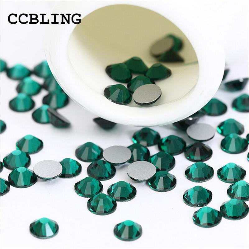 Ccbling Ss3 Ss30 Flat Back Emerald 3d Nail Art Crystal Decorations