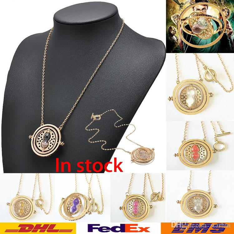 Wholesale in stock hourglass pendant necklace hermione granger time hourglass pendant necklace hermione granger time converter spins alloy necklace christmas party hourglass necklace wx n32 gold heart pendant necklace owl mozeypictures Image collections