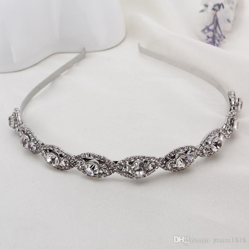 Fashion bridal wedding headband Wedding party romantic crystal rhinestone hairband bride high quality hair accessories for women