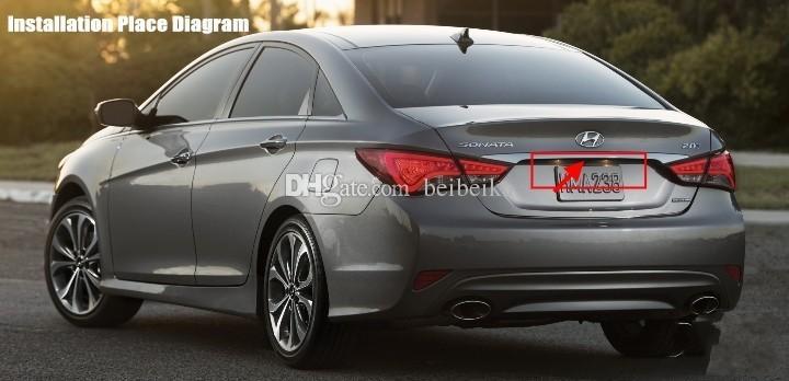 Para Hyundai Sonata NFC 2009 ~ 2012 câmera de visão traseira do carro / Back Up Estacionamento Câmera HD CCD Night Vision1