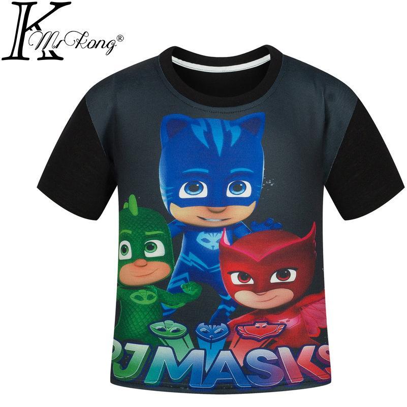 2018 110 150cm Cheap Black Red Blue Green Children'S T Shirt ...