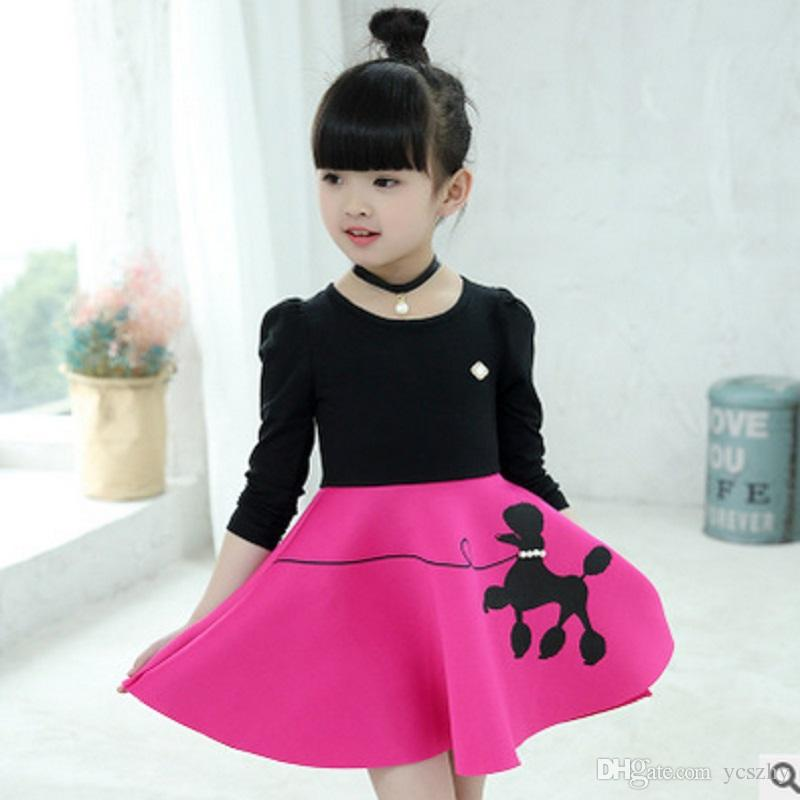fa7121550cd9 2019 Girls Dress New 2017 Summer Cute Fashion Children S Dress Girls  Necklace Lolita Style Long Sleeve Dress Size3 12 Ly189 From Ycszhy