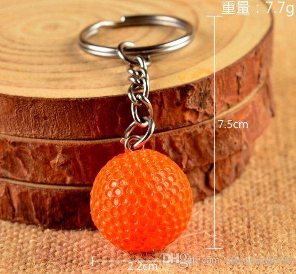 Promotional Gift Keychain Soccer Football Golf Plastic Keyring Small Sport Keyring