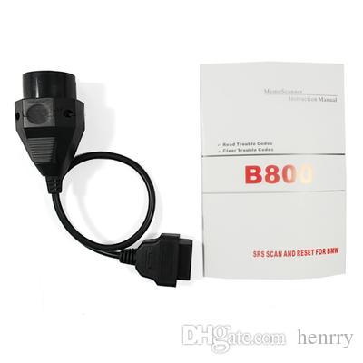 BMW OBD2 OBDII BMW 20Pin 20 P에 대 한 B800 에어백 SRS 리셋 스캐너 OBD 진단 도구