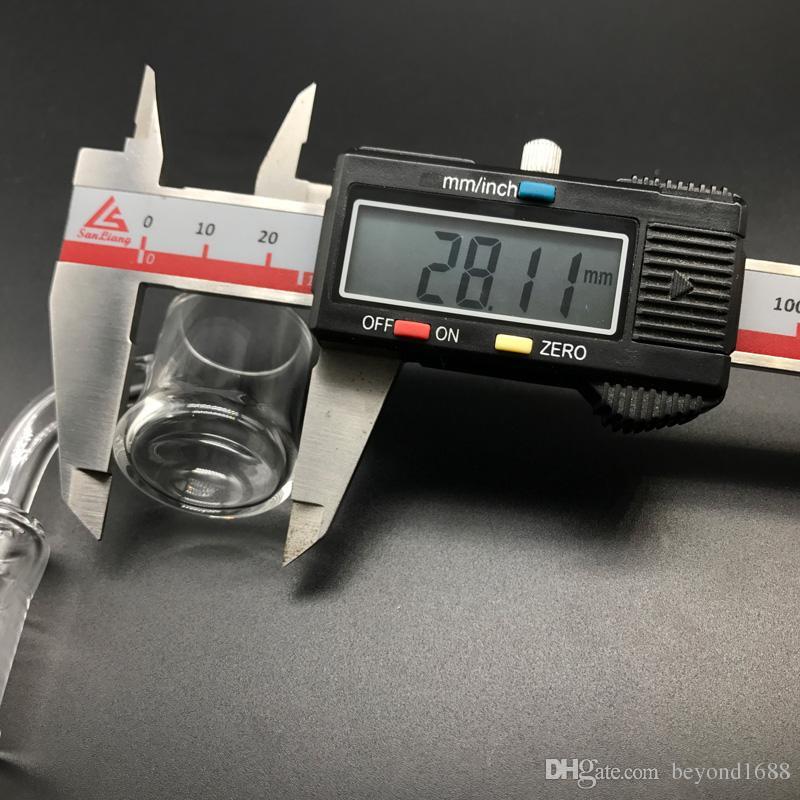 Доставка DHL !!! XL Эван Шор Кварц Бэнджер Кварц Бэнджер с плоским верхом 10 мм 14 мм 18 мм Мужской женский Эван Шор Кварц гвозди для стеклянных труб