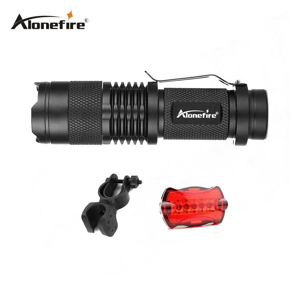 AloneFire SK68 Zoom Mini Bike Light Bicycle Light Zoomable Led Flashlight  Portable Lamp Flash Light For Camping Biking Bright Led Flashlight Best Led  ...