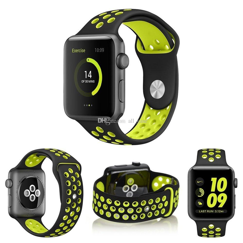 Pour les bandes d'Apple montre pour Apple Suivre la série 5 4 40mm 44mm Série 3 2 38mm 42mm bande de remplacement souple pour Apple Suivre