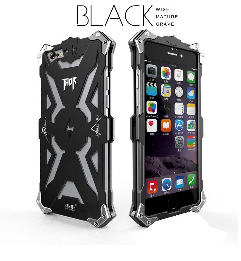 High quality Aviation Aluminum Thor Metal Cell Phone Cases For iphone 6 6plus Iron Body Premium Case