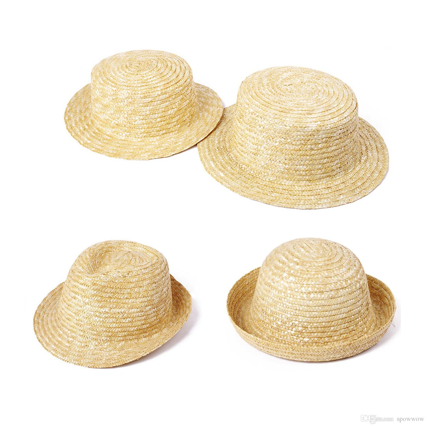 Womens Classic Child Adult Natural Handmade Straw Hat Panama Flat Top Wave  Roll Brim Cap T249 Summer Hats For Women Bucket Hats For Women From  Spowwow 6c12a3ec67dd