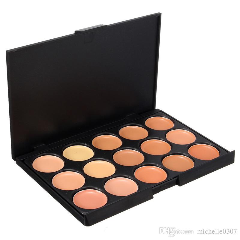 Contorno Crema Facial Maquillaje Corrector Paleta + 20 Unids Pinceles de Maquillaje Sombra de Ojos Delineador de Labios Herramienta de Pincel Cosmético + Esponja Puff