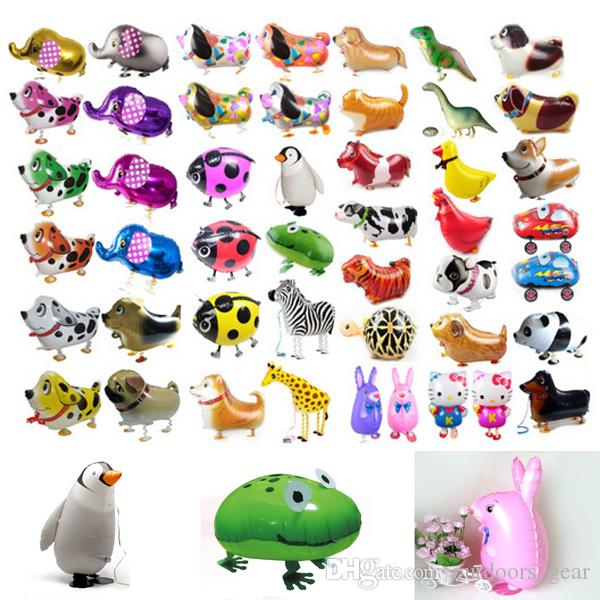 Compre 58 * 41cm Globos De Paseo Animales Balón Hulium Balón Niños ...