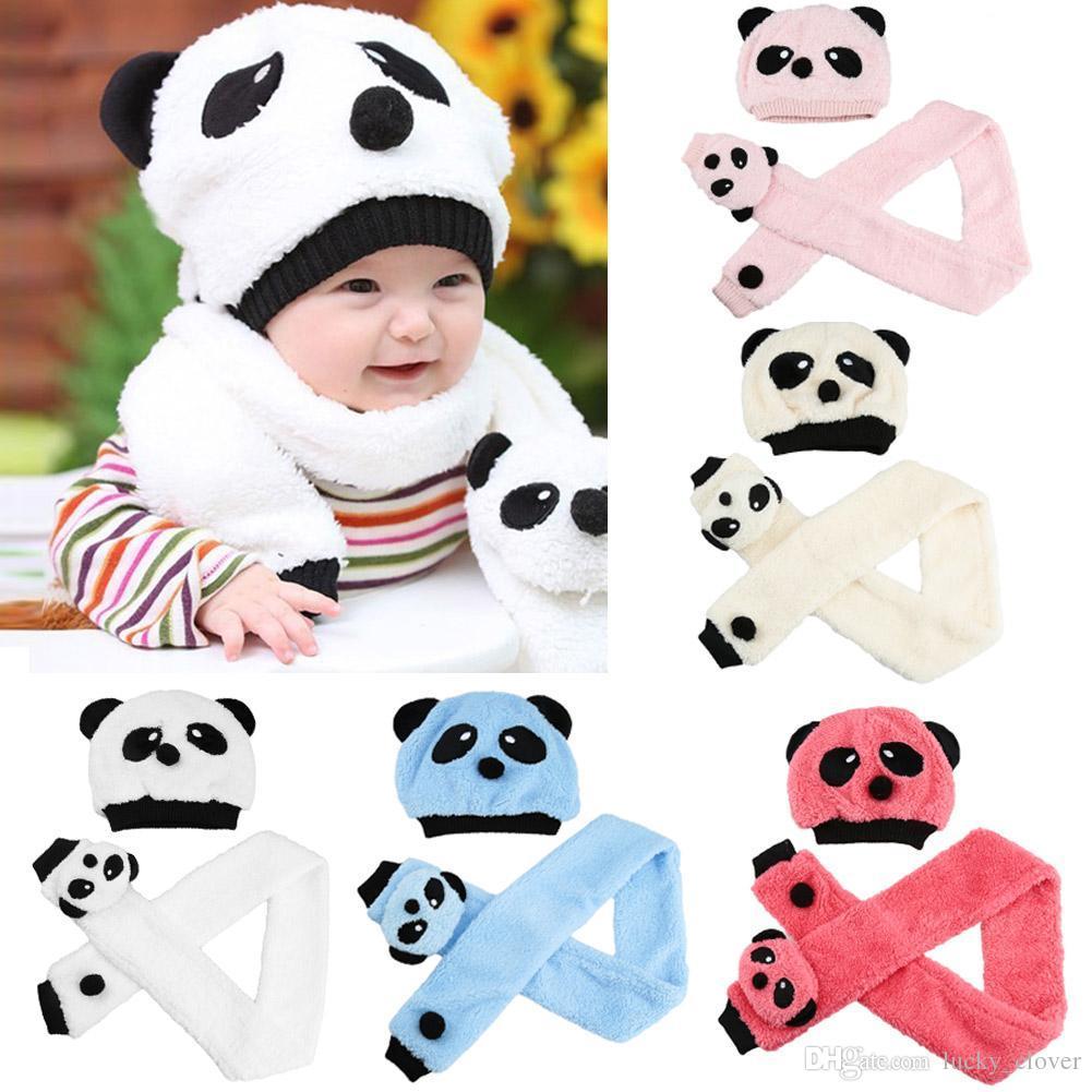 Best Autumn Winter Baby Wool Panda Velvet Ear Muff Cap Children Kids ...