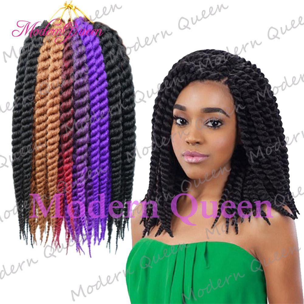 12 Inch High Quality Havana Mambo Twist Crochet Braid Hair Synthetic