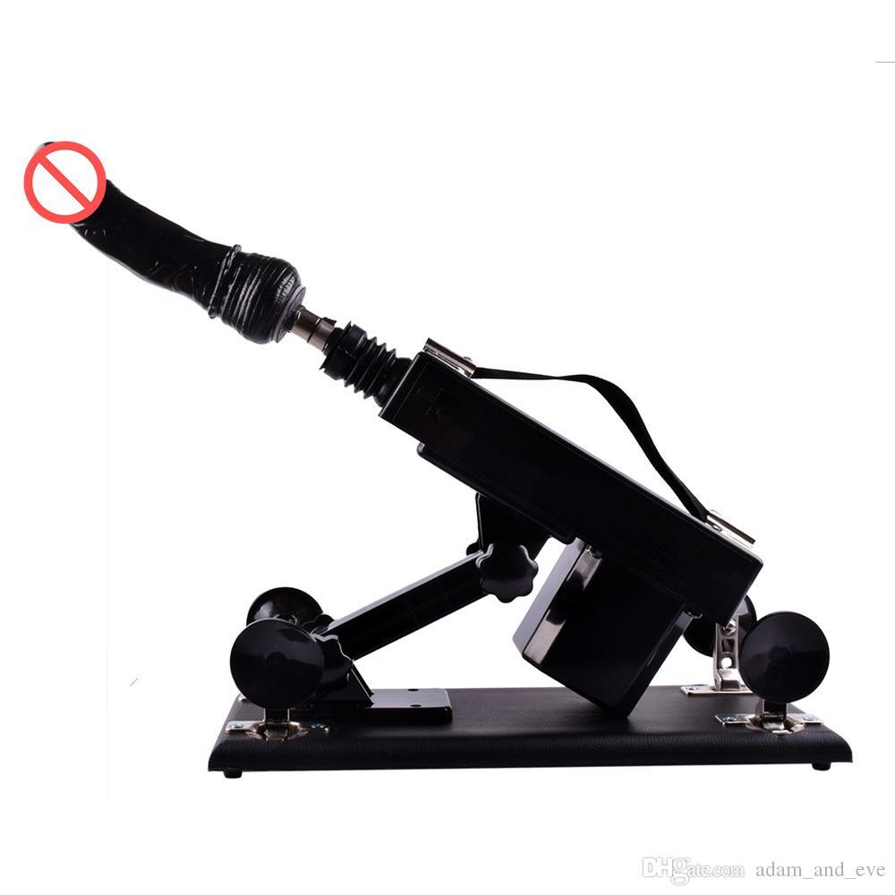 Sex Machine Gun / Canhão com Big Dildo Feminino Masturbação Amor Máquinas Intercourse Sexual Automática Robot Sex Toys para Mulheres