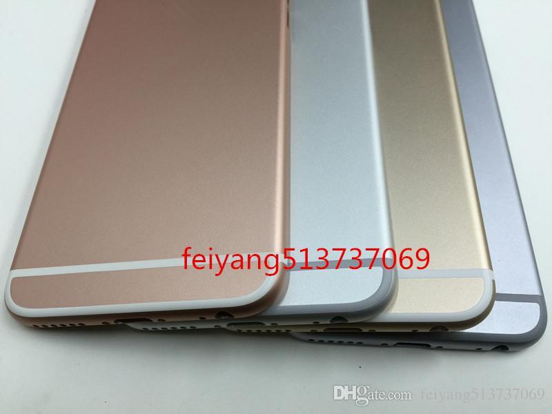 Bir kalite Tam Konut Arka Pil Kapağı Orta Çerçeve Metal iPhone 6 s 4.7