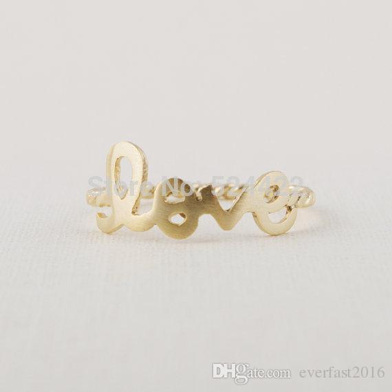 Heißer Verkauf Mode Liebe Ringe Schraube Ring Band Frauen Party Geschenk Mix Farben Einfache Brief Ring EFR091 Fatory Preis