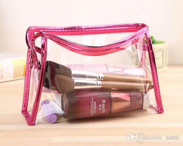 La busta cosmetica del sacchetto del PVC impermeabile libera riceve le borse di toilette Organizzatore del sacchetto di trucco