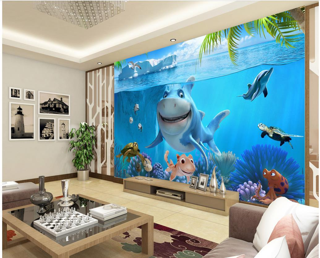 3d Underwater World Children S House Wall Mural 3d Wallpaper 3d