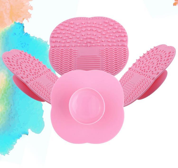 실리콘 메이크업 브러쉬 클리너 매트 패드 전문 세탁 빨판 스크럽 보드 세척 화장품 브러쉬 청소 도구