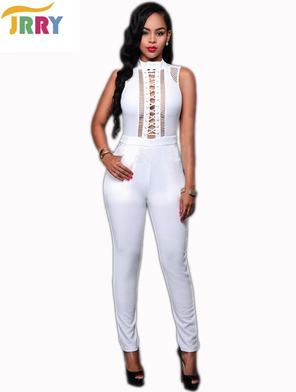 106dd6096408 Wholesale- Fashion Sexy Holes Strings Long Women Jumpsuits ...