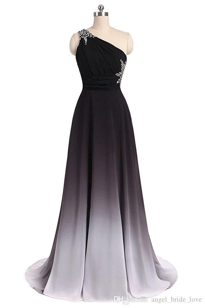 Boncuk Ile 2017 Yeni Zarif Degrade Gelinlik Modelleri Aplikler Kat-Uzunluk Parti Elbiseler Örgün Törenlerinde Vestido De Festa QS1086