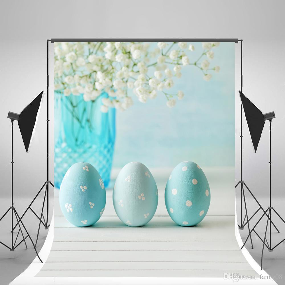 Großhandel Keine Falten Ostern Fotografie Kulissen Blaue Eier Foto